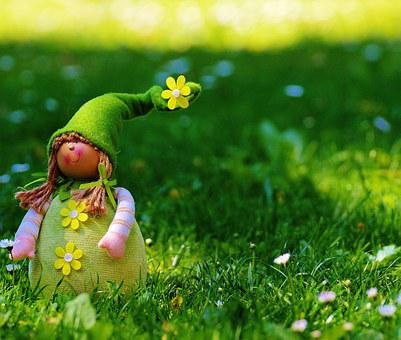 Spring Imp, Dwarf, Imp, Funny, Cute, Sweet, Meadow