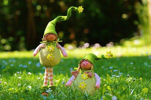 Dwarf, Spring Imp, Funny, Cute, Sweet, Meadow, Imp