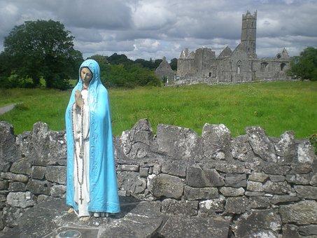 Madonna, Maria, Virgin, Church, Ireland, Stones, Faith