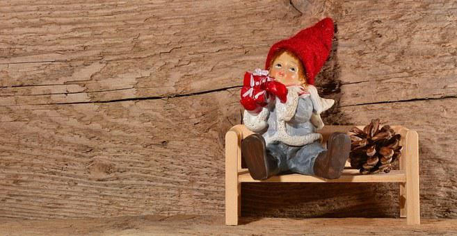 Imp, Fig, Males, Gnome, Dwarf, Deco, Wooden Bench, Wood