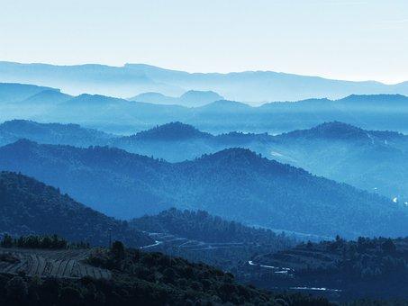 Mountains, Fog, Layers, Priorat
