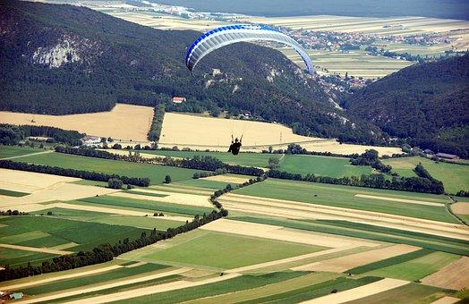 Flying, Para, Glider, Air, Gliding, Extreme, Adventure