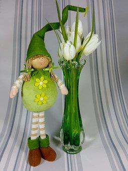 Imp, Green, Spring, Tulips, Cute