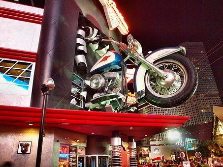 Harley Davidson, Las Vegas, Motorcycle, Casino, Usa