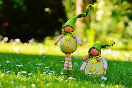 Imp, Dwarf, Spring Imp, Funny, Cute, Sweet, Meadow