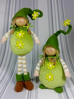 Imp, Green, Spring, Funny, Cute