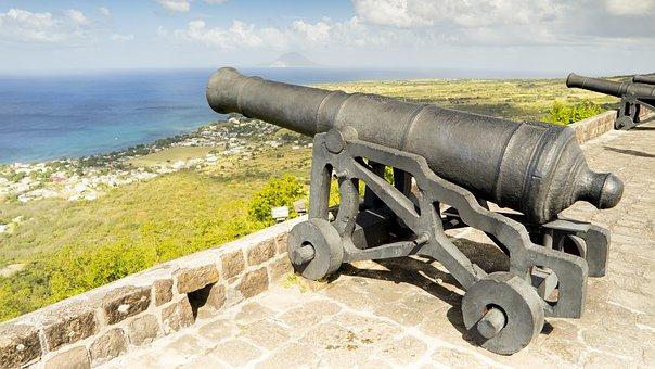 Gun, Fortress, Weapon, Coast, Booked, Sea, Ocean