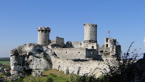 Castle, Ogrodzieniec, Rocks, View, Landscape, Rock