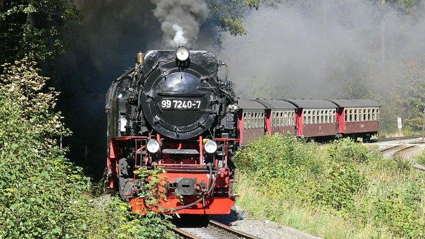Resin, Boulder, Steam Locomotive, Brocken Railway