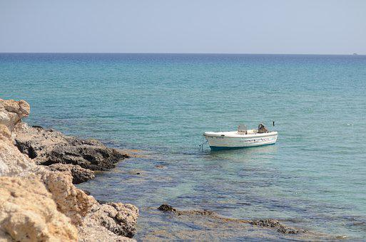 Sea, Boat, Clear Water, Holidays, Small Boat, Rock