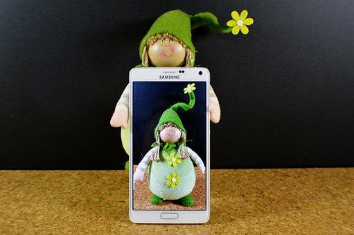 Imp, Green, Spring, Cute, Smartphone, Samsung