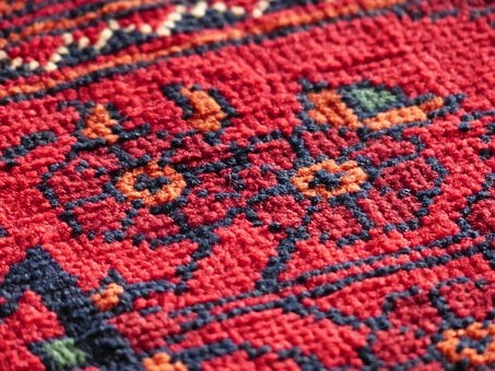 Carpet, Red, Tying, Silk, Wool, Carpet Weaving Center
