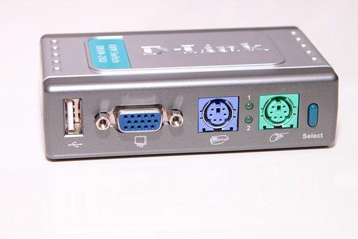 Computers, D-link, Dkvm, Port, Ps 2, Switch, Usb