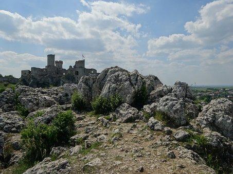 Ogrodzieniec, Poland, Castle, Rocks, The Ruins Of The