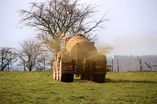 Güllefaß, Gülle, Liquid Manure, Tractor