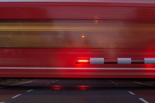 Train, Stop, Passing, Waiting, Motion, Red, Lights