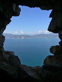 Cave, Sea, Rock, Nature, Landscape, Travel, Water