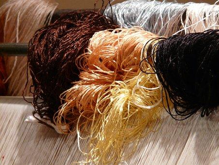 Wool, Silk, Carpet Weaving Center, Tying, Carpet