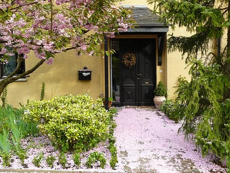 House Entrance, Flowers, Blossom, Bloom, Petals, Flora