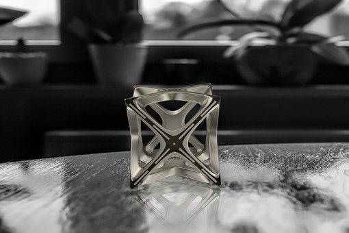 Cube, Graphical, 3 D, Black And White, Spieglung