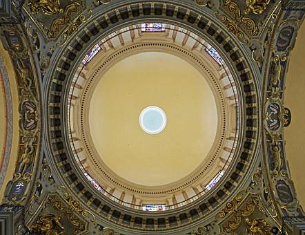 Cathedral, Nice, Dome From Below, Church Room
