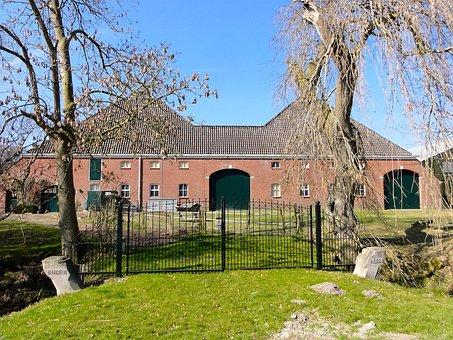 Doodstil, Groningen, Farmhouse, Yard, Facade, Fence