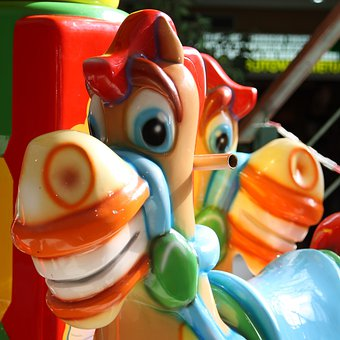 Colorful, Horse, Toys, Carousel, Year Market, Fun, Ride