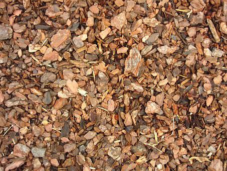 Bark Mulch, Ground, Snippets, Crushed, Texture