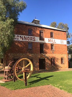 Connors, Mill, Vintage, Old, Australian, Building
