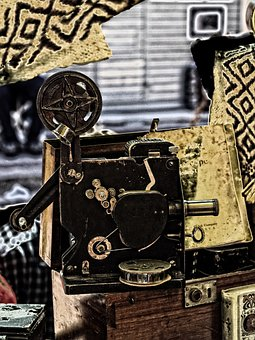 Camera, Movie, Antique, Old, History, Film, Reel