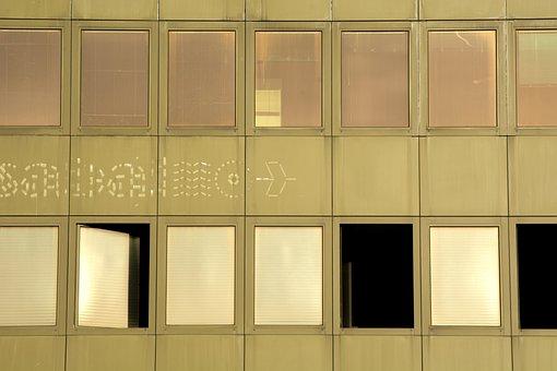 Window, Old, Building, Retro, Green, Evening, Sunset