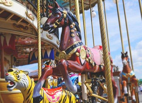 Carousel, Horse, Fun, Children, Year Market, Fair, Ride