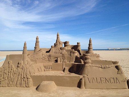 Sandcastle, Sand, Castle, Beach, Sea