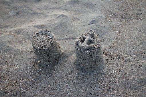 Sand Castle, Sand, Beach, Sun, Sunny, Castle, Summer
