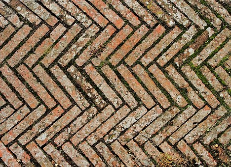 Bricks, Diagonal, Chevron, Tiles, Tiled, Tiling