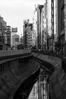 River, Shibuya, Tokyo Metropolitan Area, City, Dirty