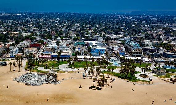 Venice Beach, Los Angeles, California, Sand, Vacation