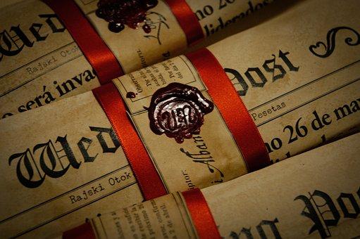 Vex Seal, Wedding Post, Newspaper, Old Newspaper