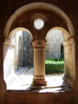 Alcove, Ark, Church, Cloister, Pillar, Pierre