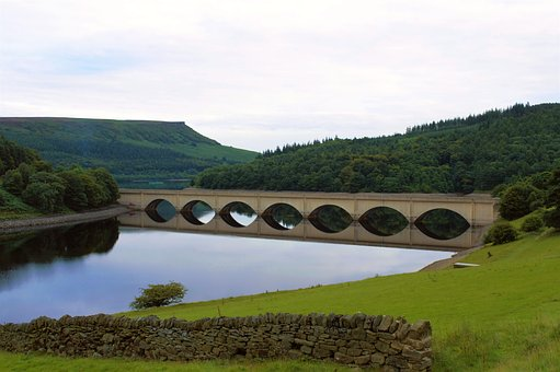 Peak District, Reservoir, Ladybower Reservoir, Bridge