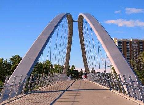 Bridge, Arch, Calgary, Canada, Urban, City