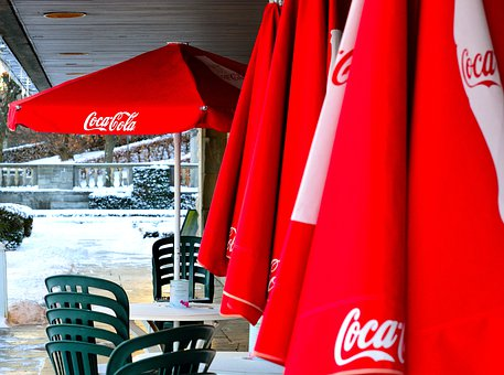 Coca Cola, Coke, Sunshades, Parasols, Advertising