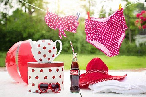 Bathing Suit, Coca Cola, Coke, Bottle, Refreshment