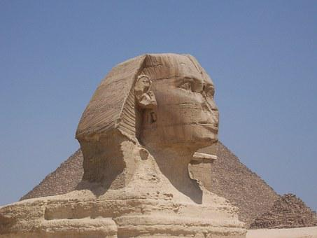 Egypt, Sphinx, 1839, Gizeh, Weltwunder, Culture, Grave