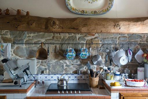 Kitchen, Tuscan, Wooden Beams, Farmhouse