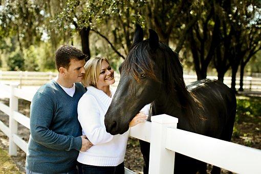 Hug, Couple, Horse, Love, Man, Woman, Happy, Female