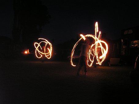 Fire Dancing, Fire, Acrobats, Dancers