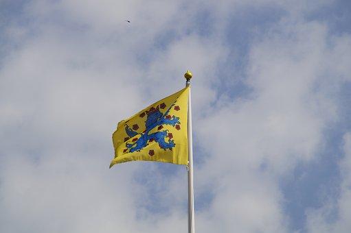 Flag, Sweden, Swedish, Ystad, Coat Of Arms
