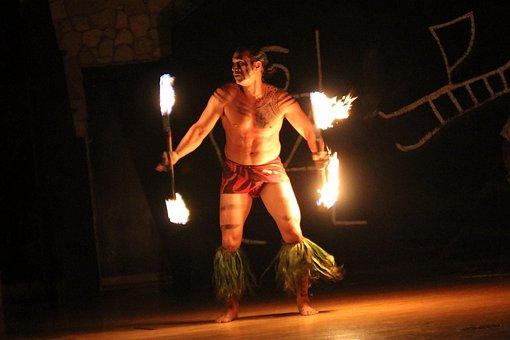 Hawaii Flame Dance, Fire Dance, Hawaii, Flaming, Mystic