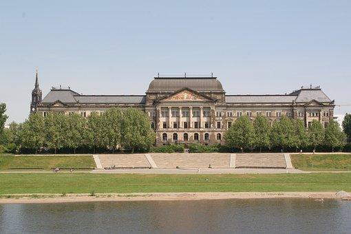 Saxon State Ministry, Germany, Landscape, Castle